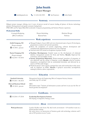 Basic resume example